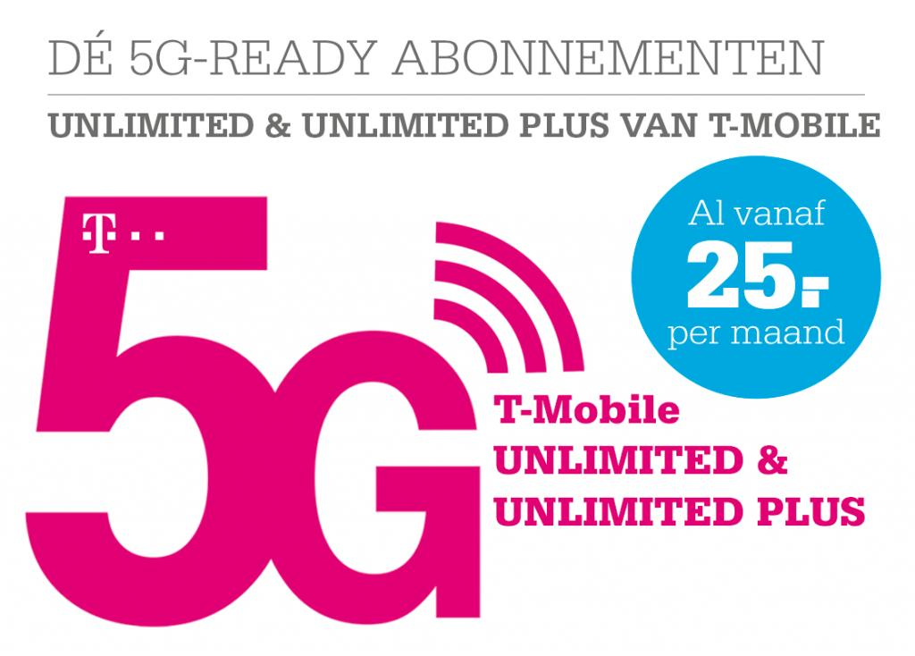 5G-Ready met Unlimited (Plus) van T-Mobile