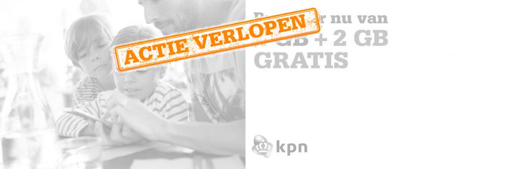 KPN deal: nu 2GB + 2GB gratis!
